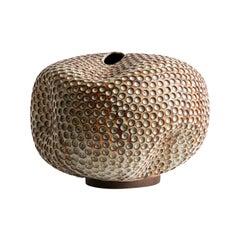 Handmade Midcentury Ceramic Vase / Interior Sculpture / Wabi Sabi Vessel