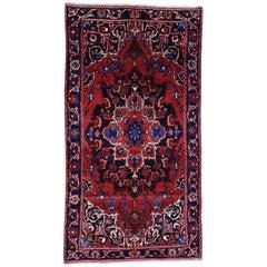 Handmade Semi Antique Persian Bakhtiari Wide Runner Rug