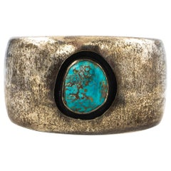 Hand Made Sterling Silver and Turquoise Cuff Bracelet