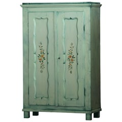 Hand Painted Antique Double Wardrobe