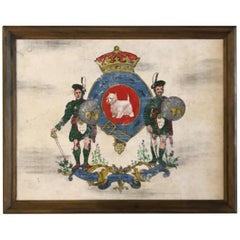 Hand Painted Armorial Plaque of West Highland Terrier
