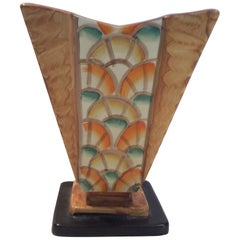 Hand-Painted Art Deco Vase by Myott and Son