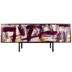 Hand painted Art Door Sideboard 'Pratt Credenza' by Morgan Clayhall