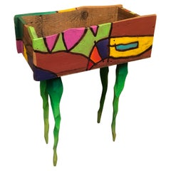 Hand Painted Barn Wood Planter by Brian Andreas