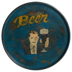Hand Painted Beer Tray