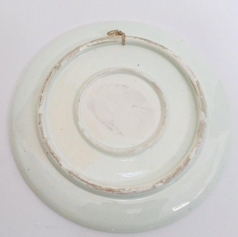 Hand Painted Ceramic Decorative Moorish Plate For Sale 7
