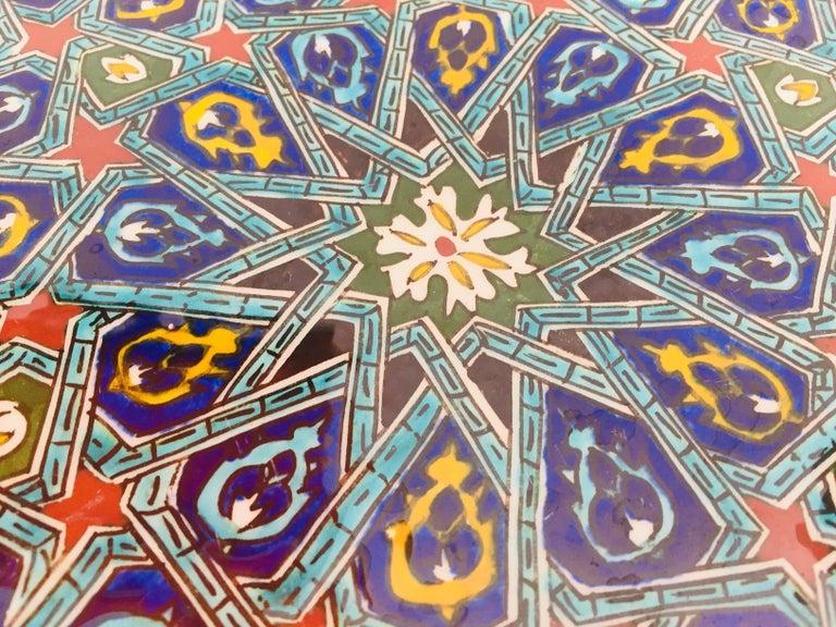 Hand Painted Ceramic Decorative Moorish Plate For Sale 3