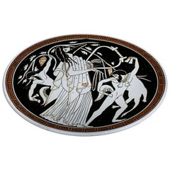 Hand Painted Ceramic Greek Plate