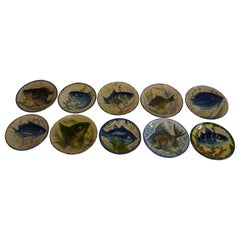 Hand Painted Ceramic Plates from Spain