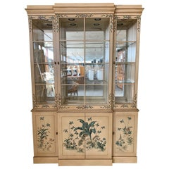 Hand Painted China Cabinet by Drexel