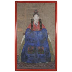 Hand Painted Chinese Ancestral Portrait of a Lady