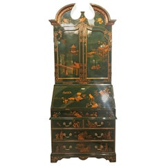Hand Painted Chinoiserie Secretary Desk by Maitland Smith