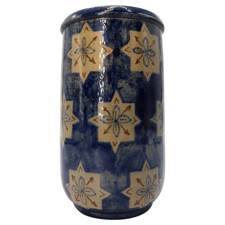 Early 1940s Hand Painted Danish Midcentury Ceramic Vase by Søholm Keramik