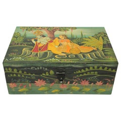 Hand Painted Decorative Box with Krishna
