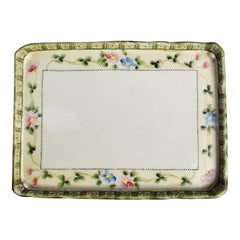 Hand Painted Decorative Floral Porcelain Vide Poche Tray Japan