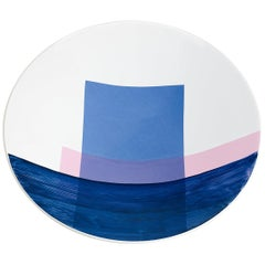 Hand Painted Enamel Color Large Bowl with Silk Screen Decal