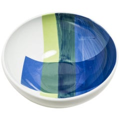Hand Painted Enamel Colour Bowl with Silk Screen Decal