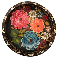 Hand Painted Flower Mexican Bowl