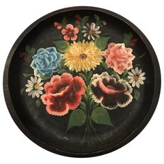 Hand Painted Flower Mexican Bowl Large