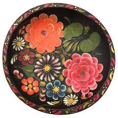 Hand Painted Flower Mexican Bowl Medium