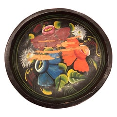 Hand Painted Flower Mexican Bowl Small