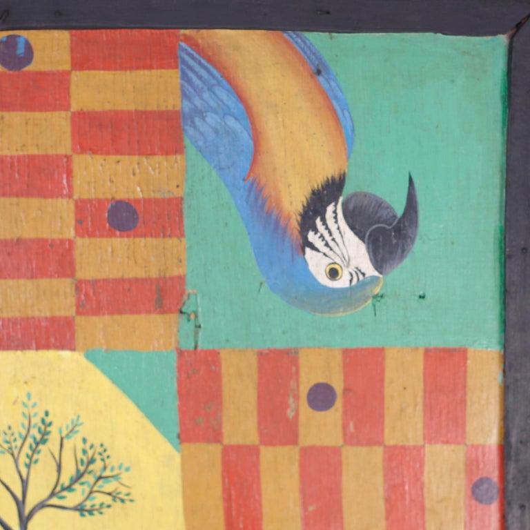 Folk Art Hand Painted Haitian Game Board For Sale