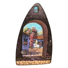 Hand Painted in Antique Iron by Mexican Artist
