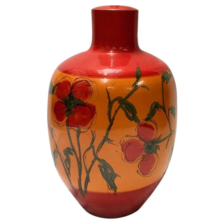 Hand Painted Italian Ceramic Table Lamp