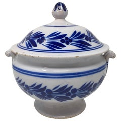 Hand Painted Italian Deruta Pottery Tureen