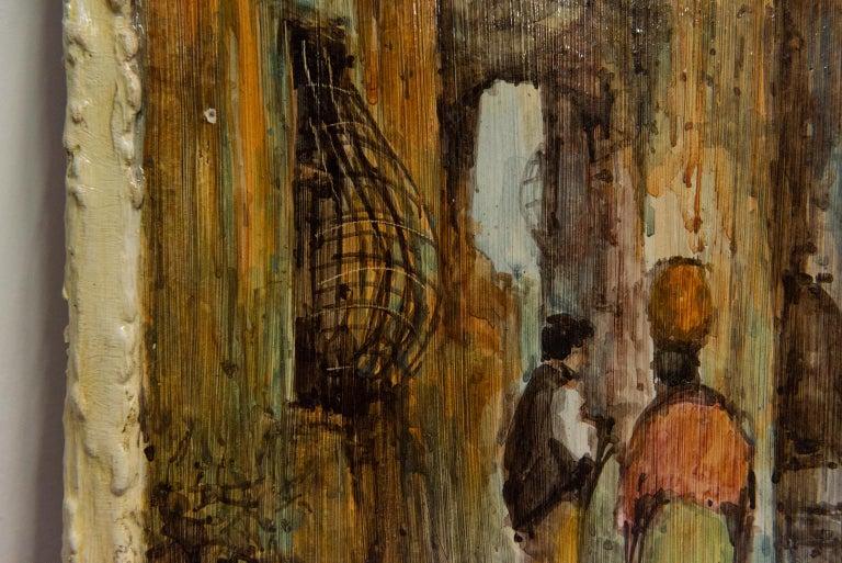 Hand Painted Italian Landscape Ceramic Panel For Sale 1
