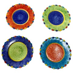 Hand Painted Italian Salad Plates, Set of 11