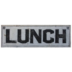 "Hand-painted ""Lunch"" Sign"