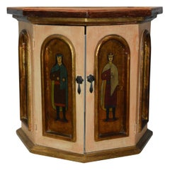 Hand-Painted Mexican Octagonal Side Table