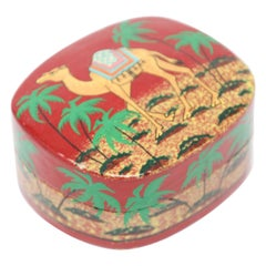 Hand Painted Middle Eastern Lacquer Box with Camel