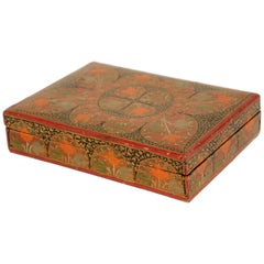 Hand Painted Middle Eastern Persian Lacquer Box