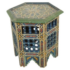 Hand Painted Moroccan Handcrafted Side Table