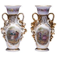 Hand-Painted Old Paris Vases