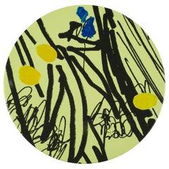 Hand Painted Platter with Unique Contemporary Design, Platter 10
