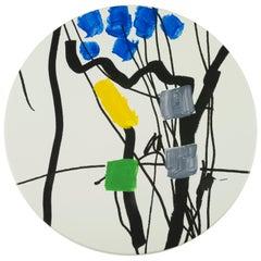Hand Painted Platter with Unique Contemporary Design, Platter 19