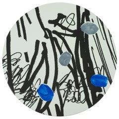 Hand Painted Platter with Unique Contemporary Design, Platter 7