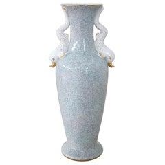Hand Painted Porcelain Large Vase, 1980s