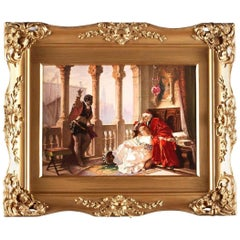 Hand Painted Porcelain Plaque by Theodore Zasche
