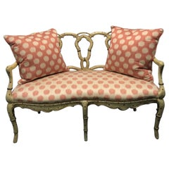 Hand Painted Pretzel Back Settee
