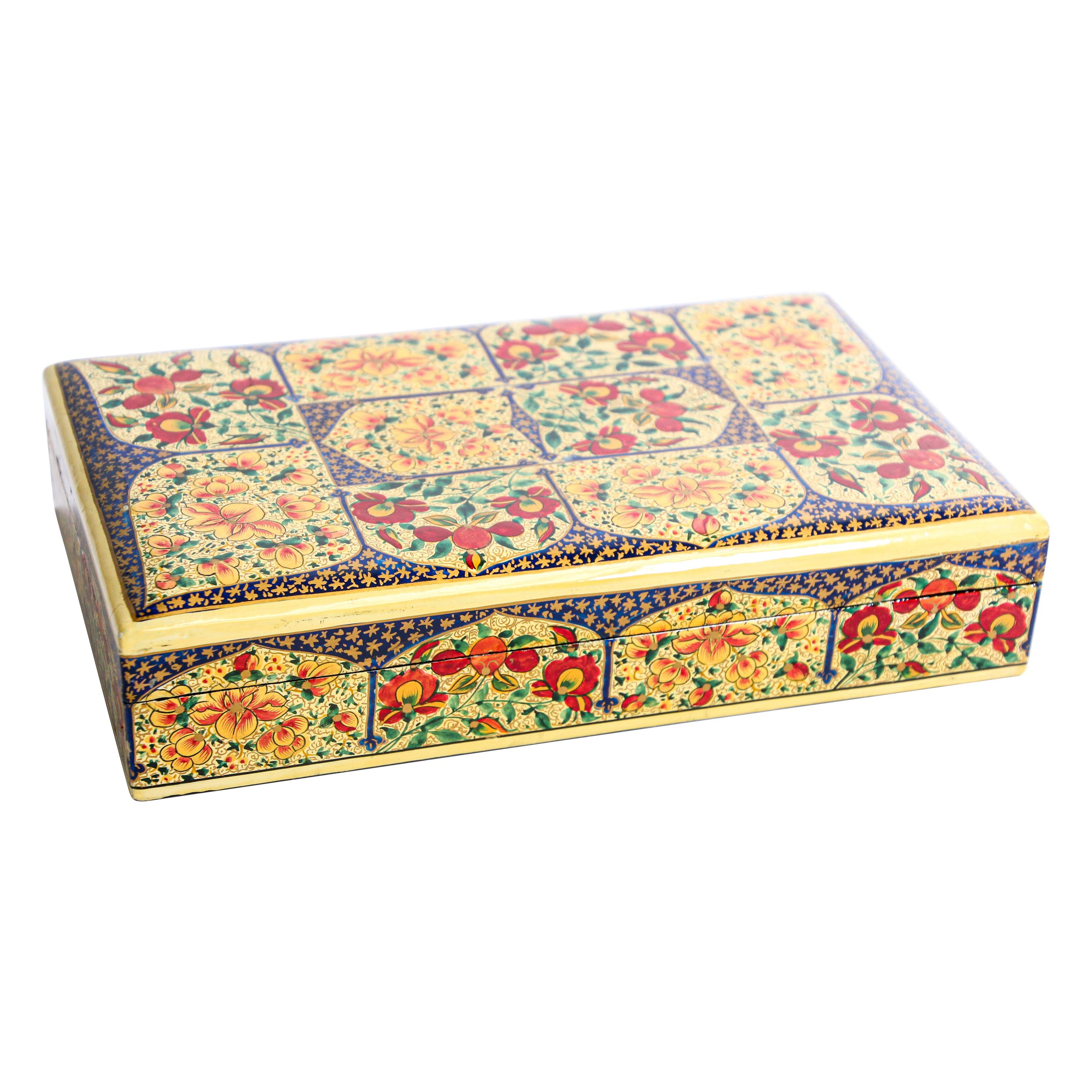 Hand Painted Rajasthani Lacquer Decorative Box