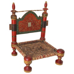 Hand Painted Rajasthani Side Chair