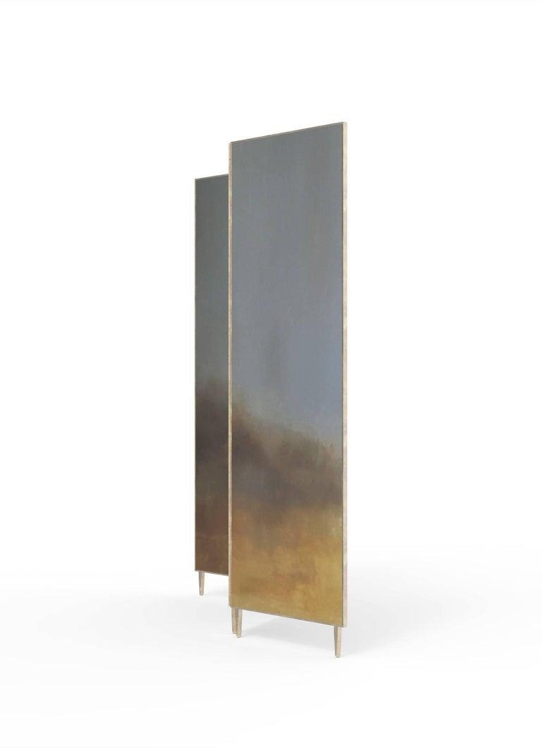 Post-Modern Hand Painted Screen, Jan Garncarek and Ewelina Makosa For Sale