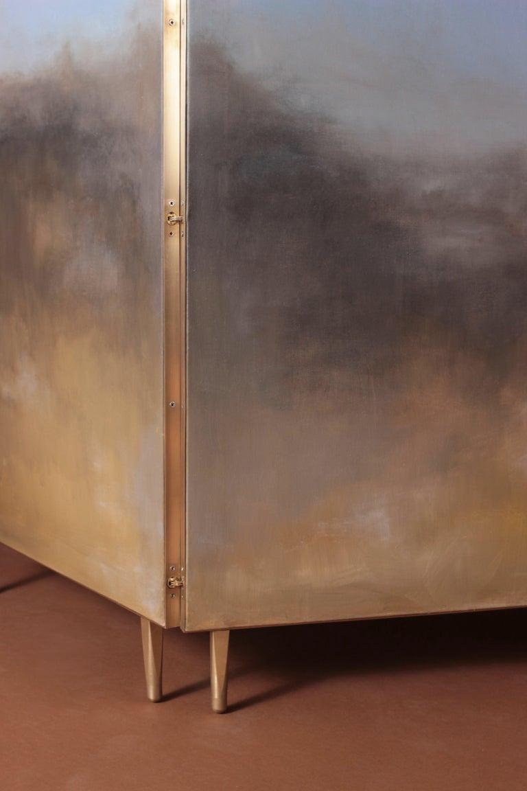 Hand Painted Screen, Jan Garncarek and Ewelina Makosa For Sale 1
