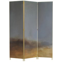 Hand Painted Screen, Jan Garncarek and Ewelina Makosa