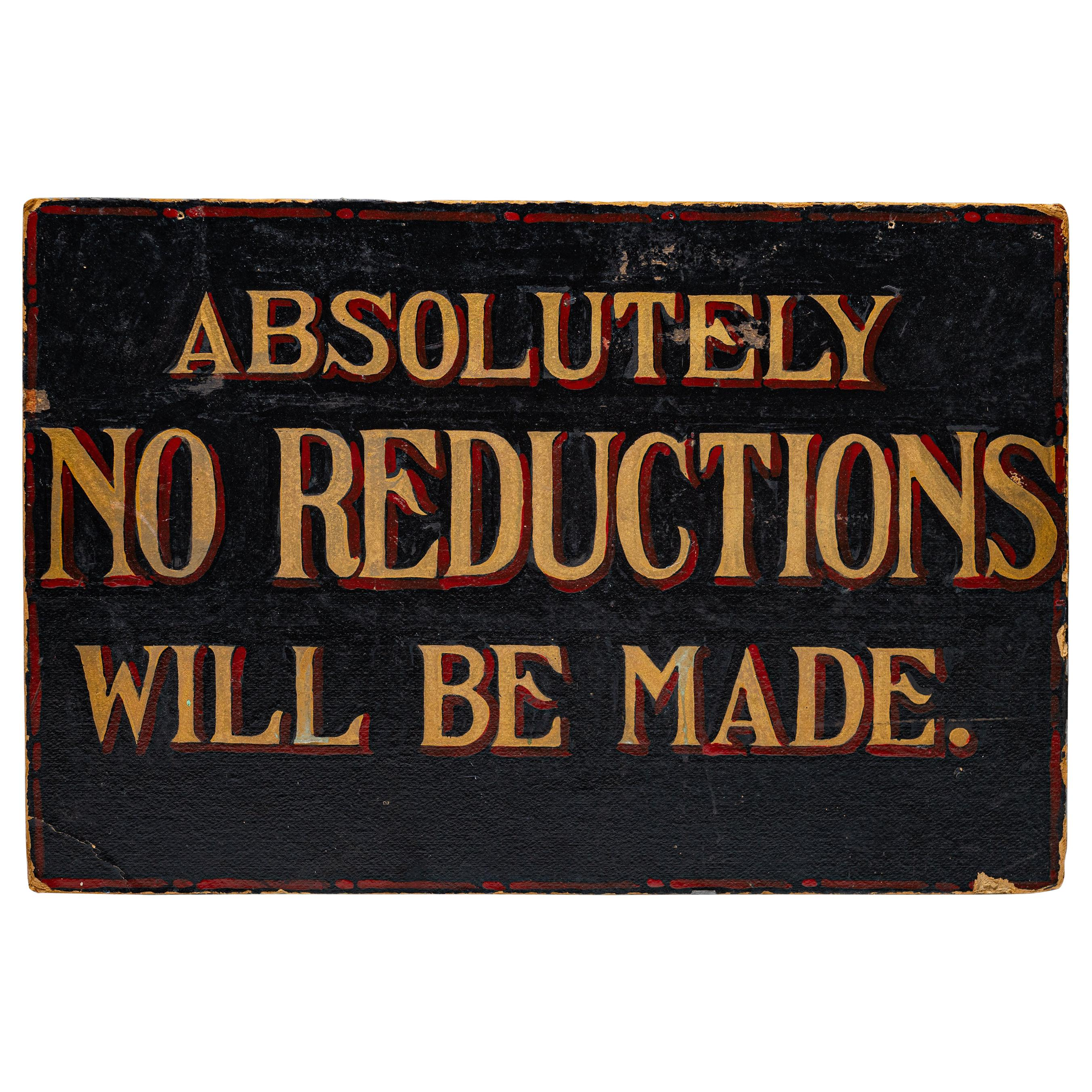 Hand Painted Sign, America, circa 1920