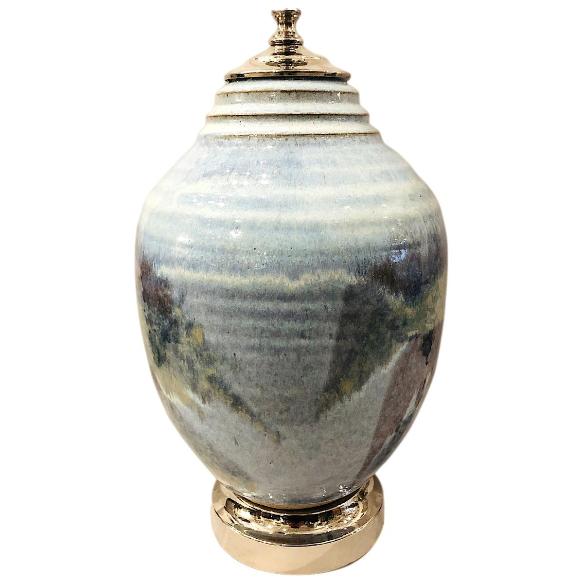 Hand Painted Single Ceramic Table Lamp